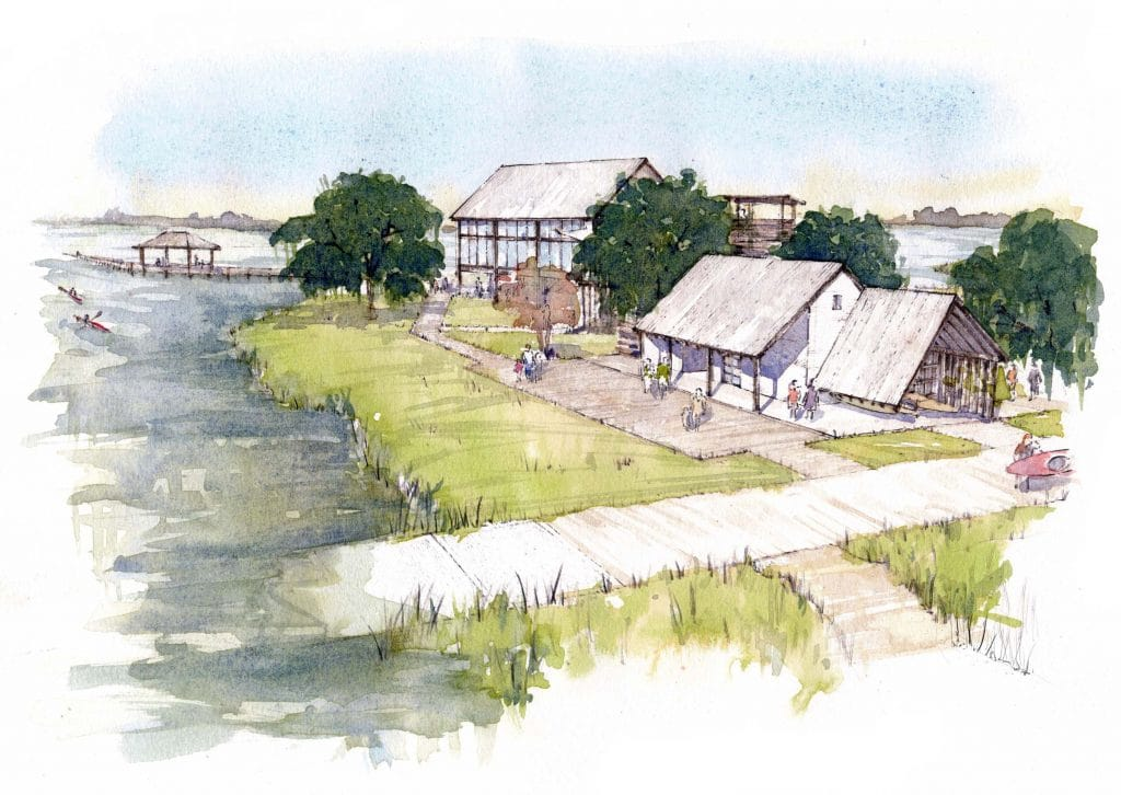restaurant and outfitter store at kiawah river development