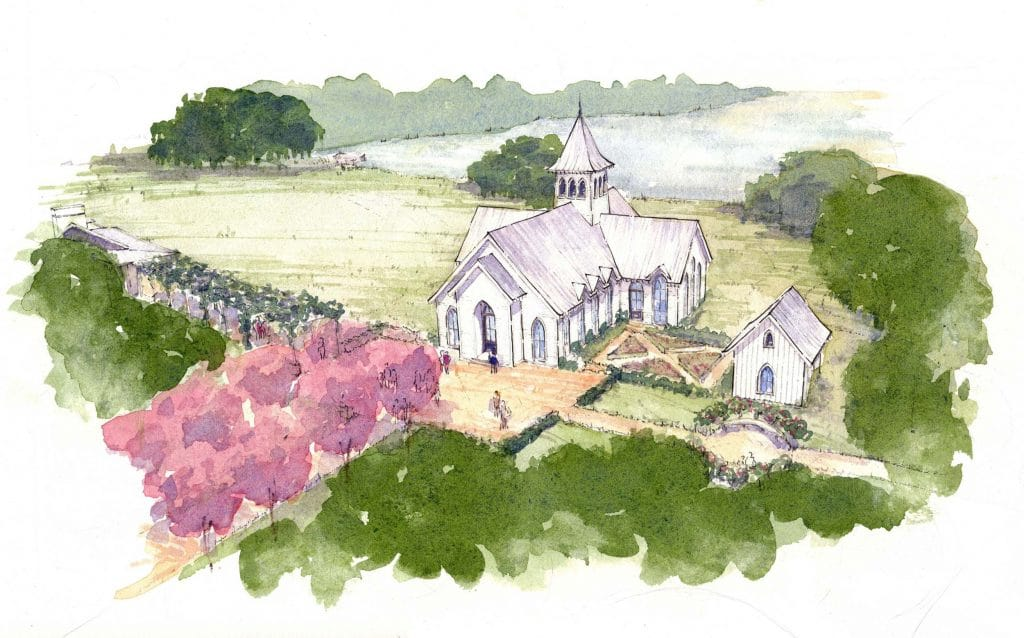 hope chapel rendering at kiawah river development
