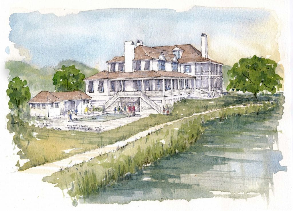rendering of Jack Island Lodge Pool at kiawah river development