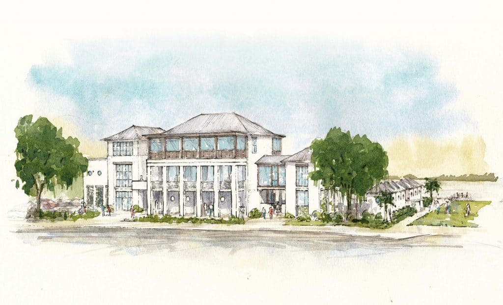waterfront swim club at kiawah river development