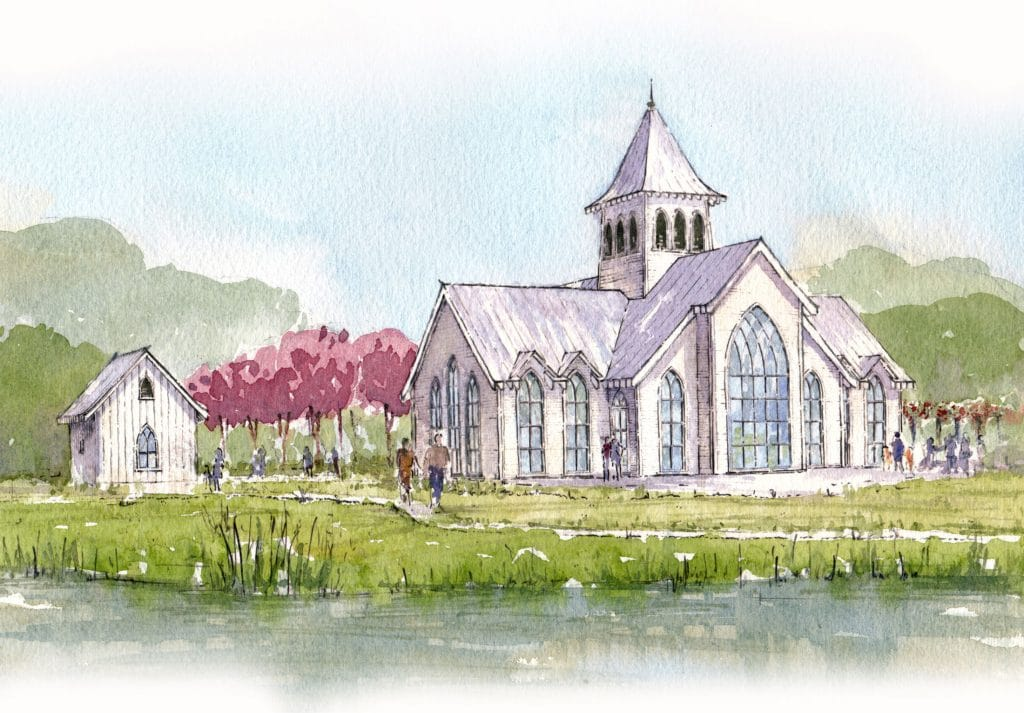 chapel rendering at kiawah river development
